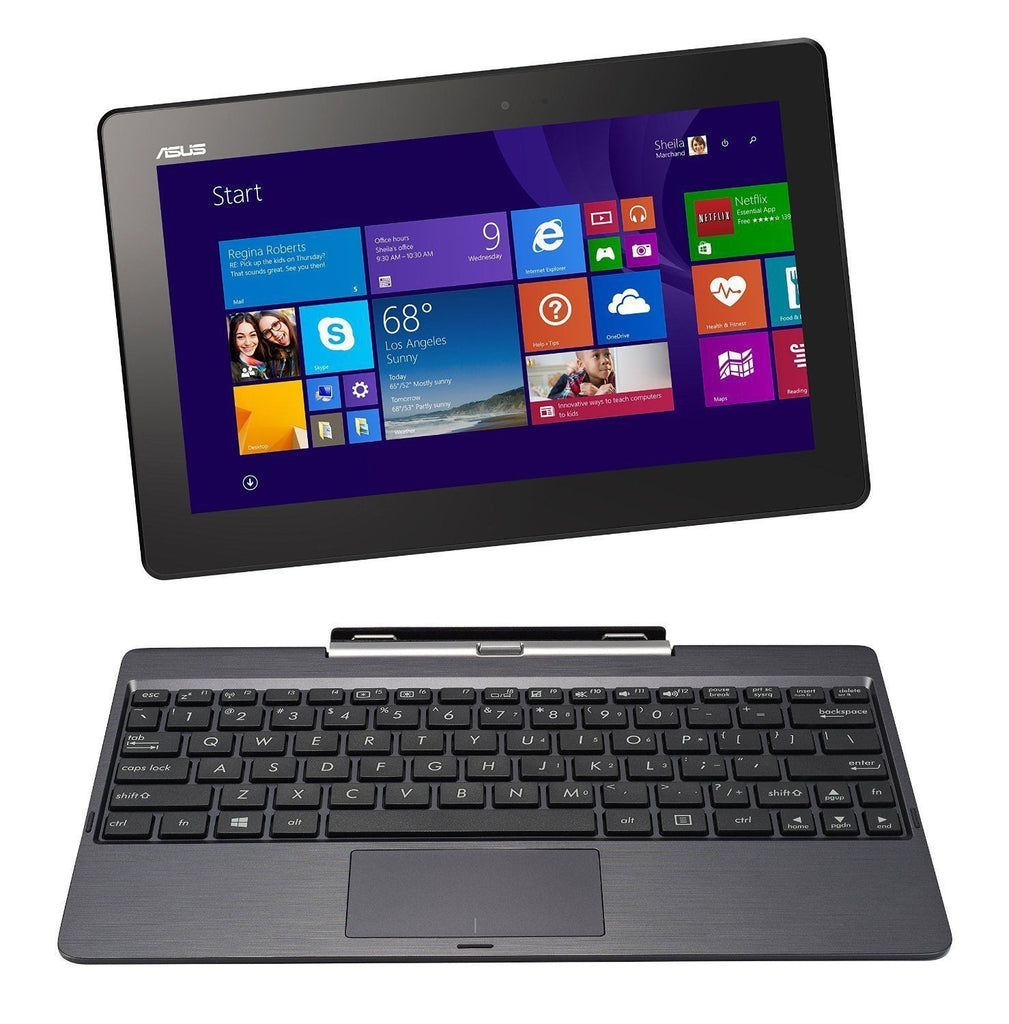 "ASUS - 10.1"" Detachable 2-in-1 Touchscreen Laptop/Tablet 32GB"