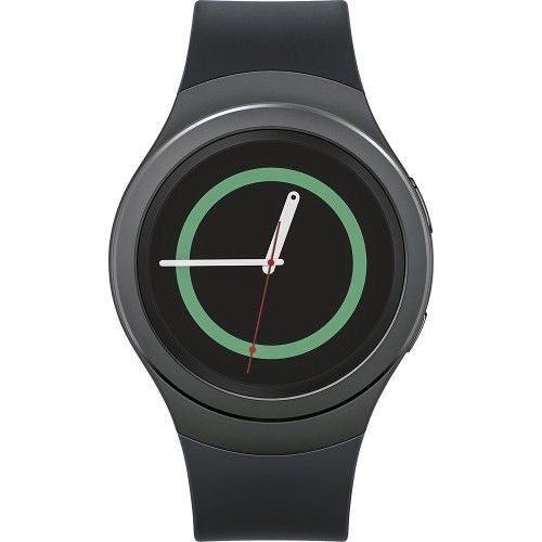 SAMSUNG Gear S2 Smartwatch 42mm Stainless Steel - Black Elastomer