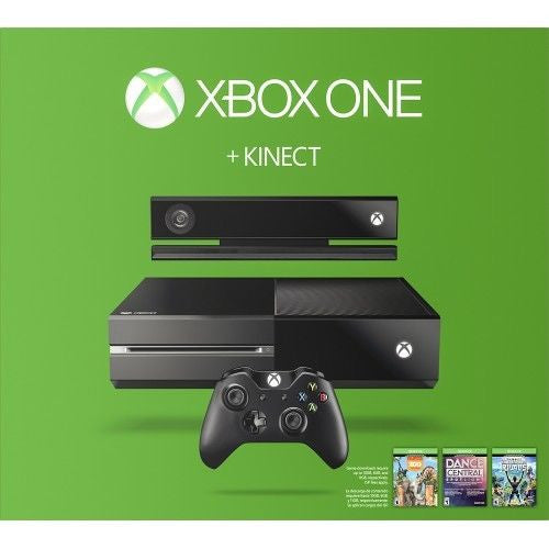 MICROSOFT Xbox One 500GB Three Game Kinect Bundle (Includes Chat Headset) - Black