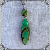 WIRED CHRYSOPRASE NECKLACE