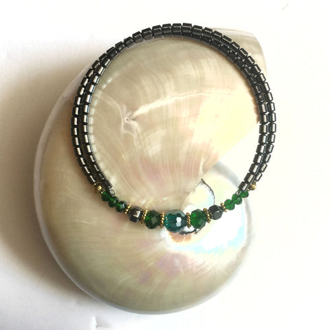 Forest Green Chocker