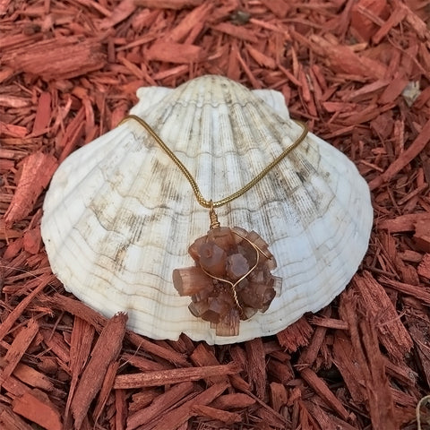 Wrapped Aragonite Necklace
