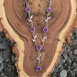 Purple Rose Necklace