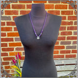 AMETHYST PIROUETTE NECKLACE
