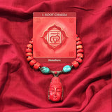 Coral Buddha Necklace