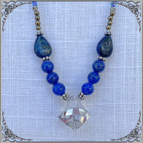 LAPIS PIROUETTE NECKLACE