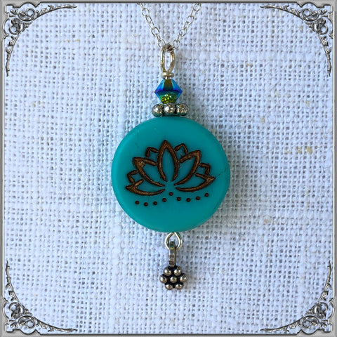 TURQUOISE LOTUS PENDENT