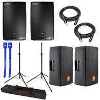 JBL 2x EON615 15in Class D Two-Way Multipurpose Speaker with Stands