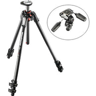 Manfrotto Carbon Fiber Tripod Kit with 3-Way Pan/Tilt Head