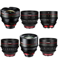 Canon Cine Six Lens Kit - EF Prime Lenses (14, 24, 35, 50, 85, 135mm)