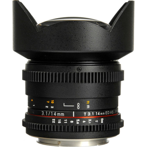 Rokinon 14mm T3.1 Cine Lens for Canon EF