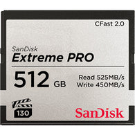 SanDisk 512GB Extreme PRO CFast 2.0 Memory Card (ARRI Approved)