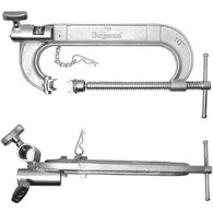 C-Clamp with Double Junior Receiver - 6""