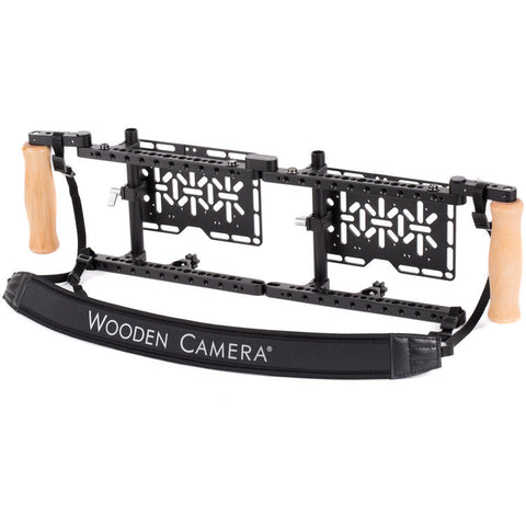 Dual Wooden Camera Director's Monitor Cage v2