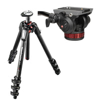 Manfrotto Carbon Fiber 3-Section Tripod w/ 502AH Head