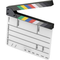 Production Slate with Color Clapper Sticks