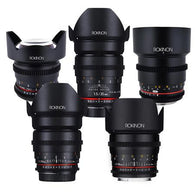 Rokinon Five Cine Lens Set (14, 24, 35, 50, 85mm)