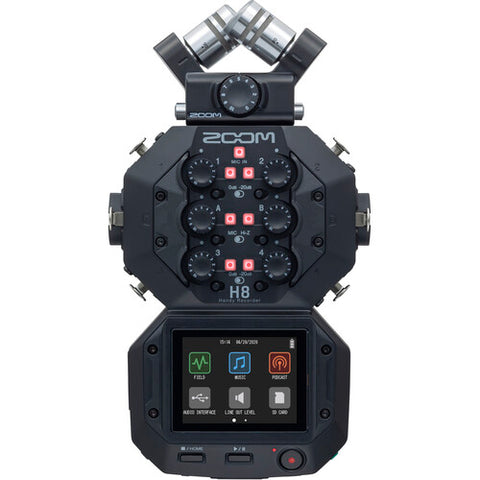 Zoom H8 8-Input / 12-Track Portable Handy Recorder w/Bluetooth Chip