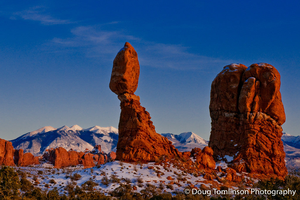 Balanced Rock at Sunset - 1238