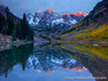 Maroon Bells at First Light - 1058