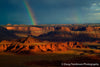Rainbow Over Canyon - 1233