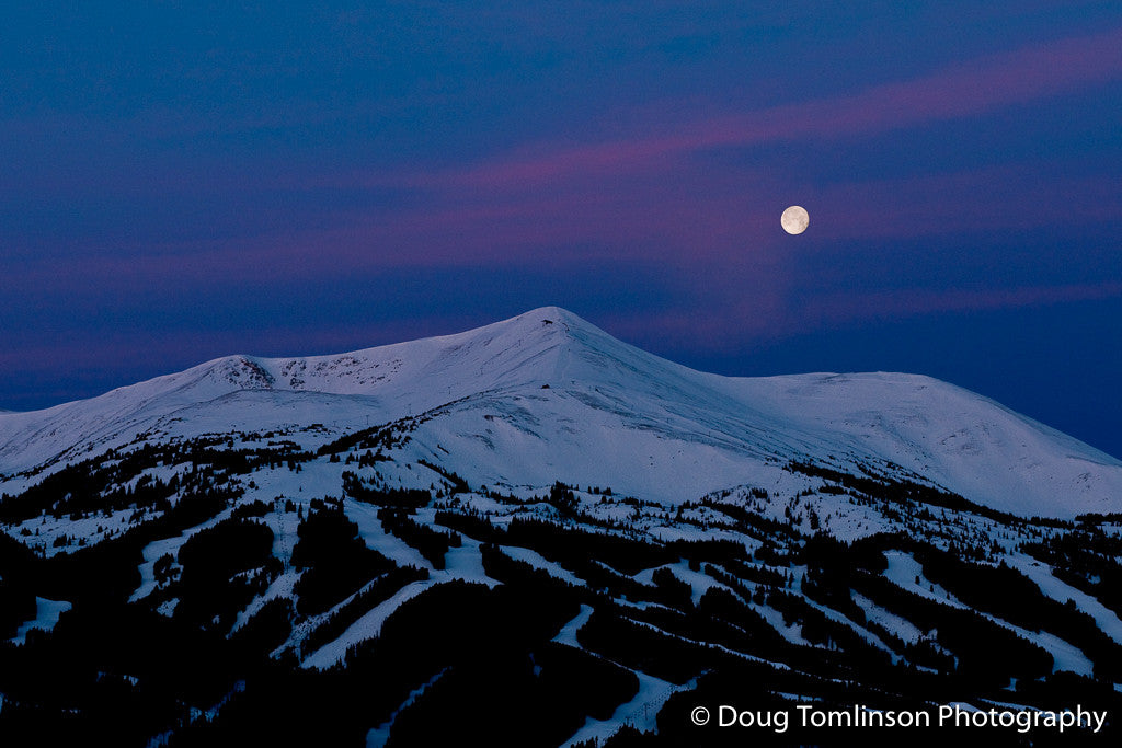 Sunrise Over Peak 8 Under a Full Moon - 1150