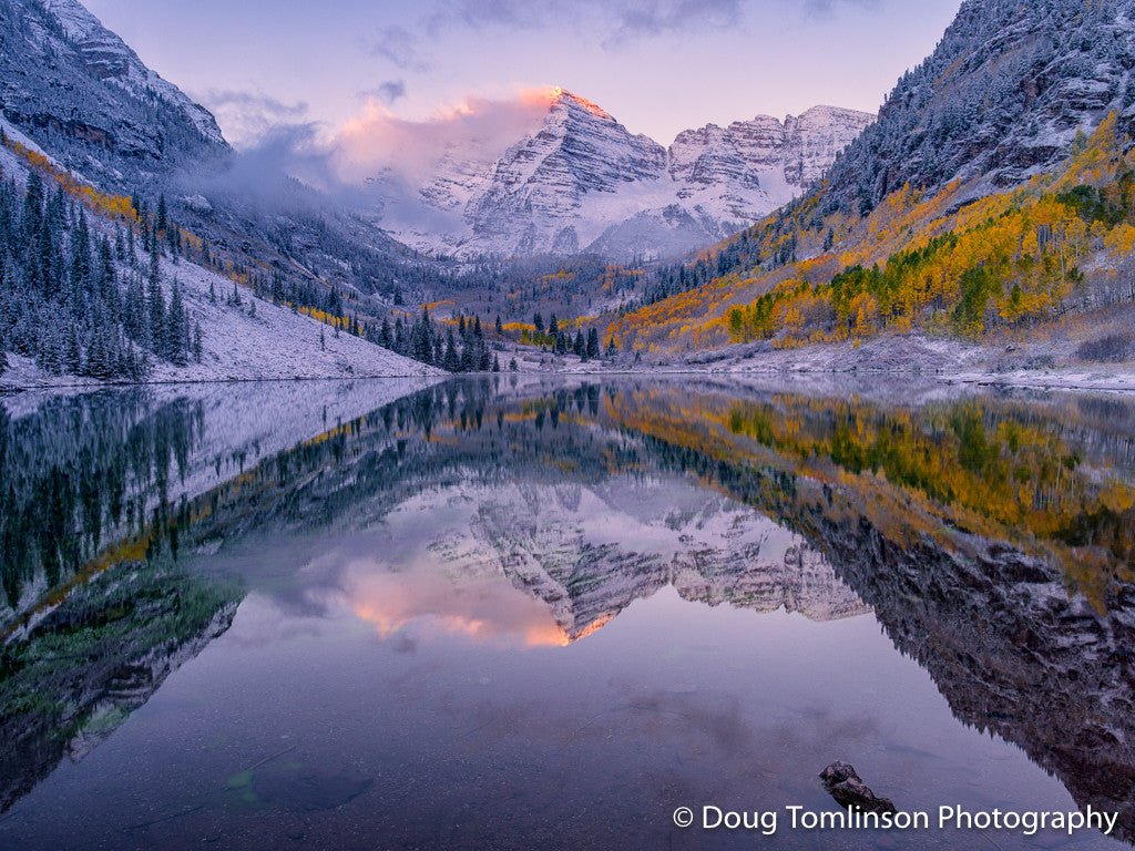 Touch of Light Maroon Bells - 1380