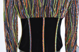 Beaded Corset blouse by Barbara Schwarzer