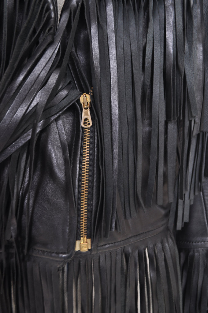 Moschino fringed leather jacket from 1992 Cheap and Chic