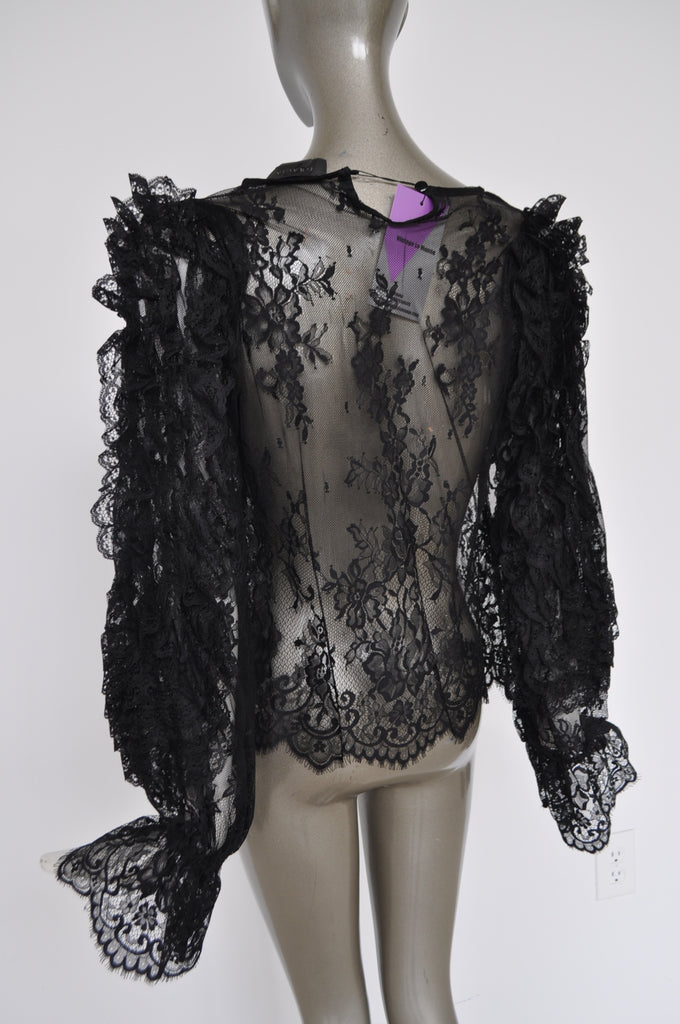 Lace blouse very avantgarde
