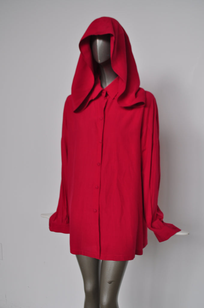 Claude Montana hooded Blouse 80s