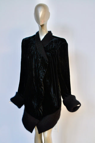 Issey Miyake Plantation collection leather knit cardigan super rare circa 1987