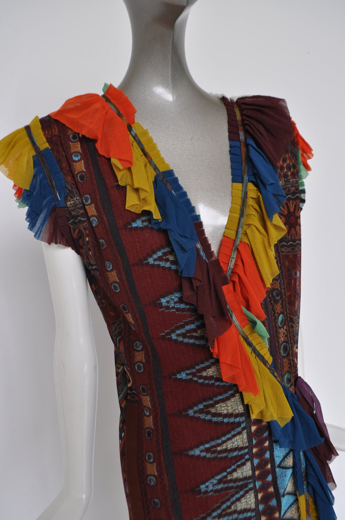 Jean Paul Gaultier soleil dress multicolor