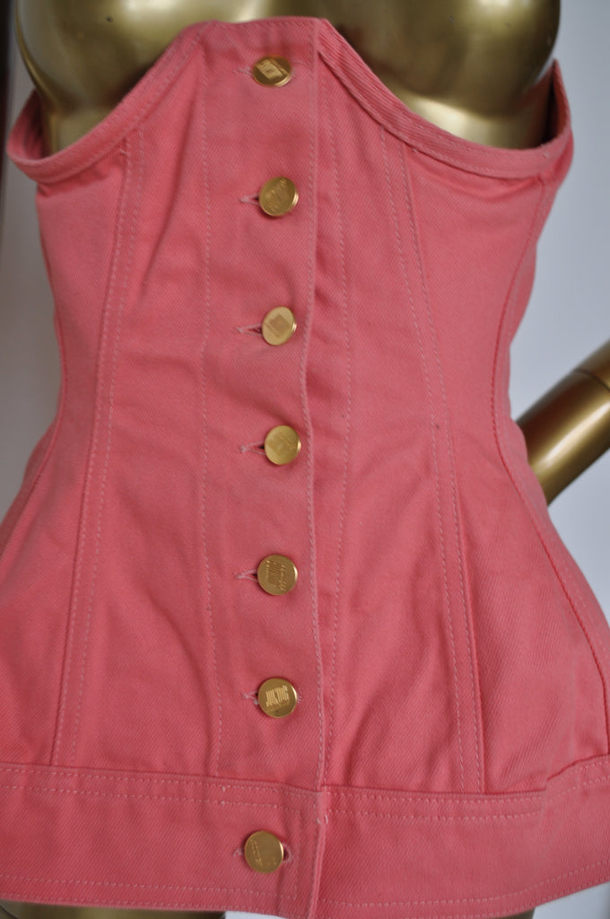 Junior Gaultier Corset top 80s