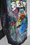 Handpainted coat made by a Artist