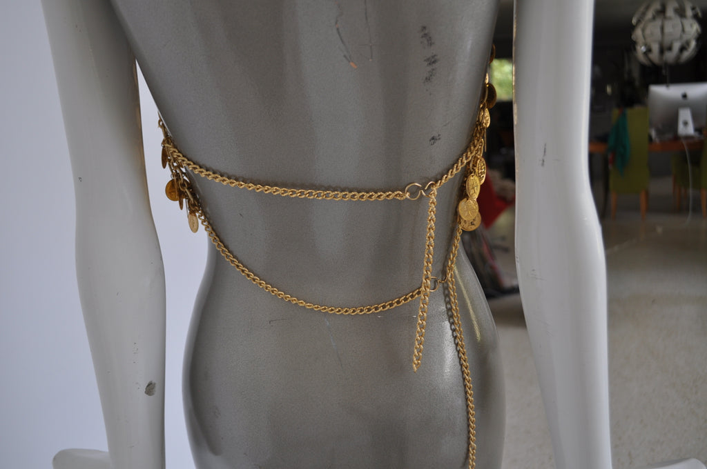 1970s Egyptian metal coin bra