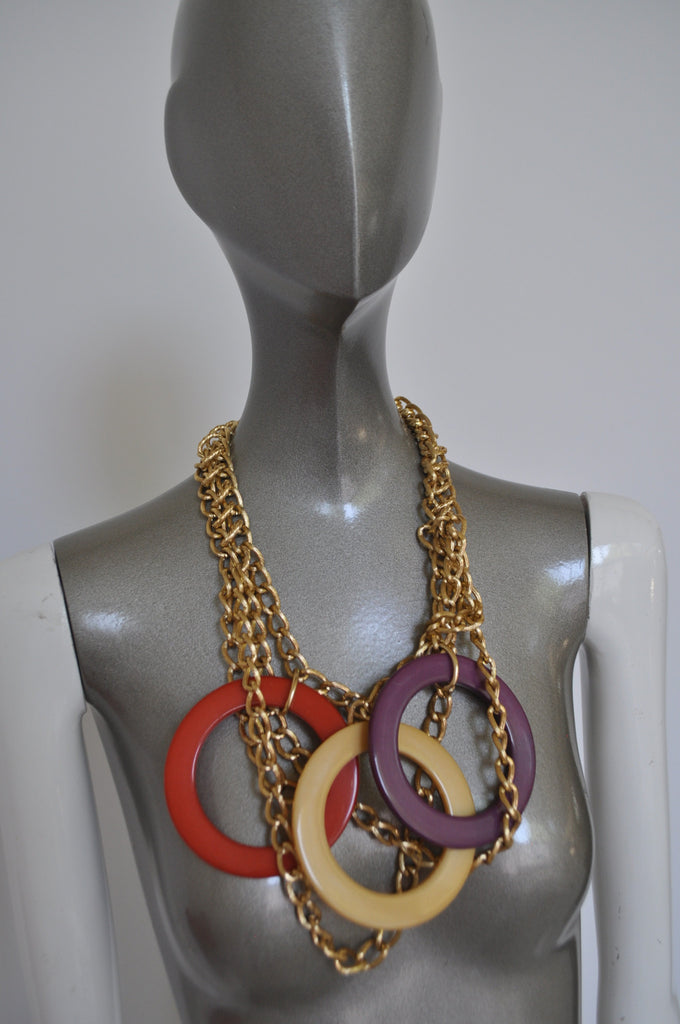 Vintage 70s chunky necklace Runway