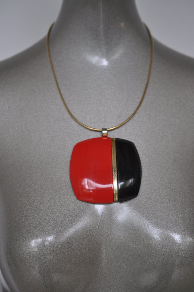Lanvin necklace chunky pendant 1970s