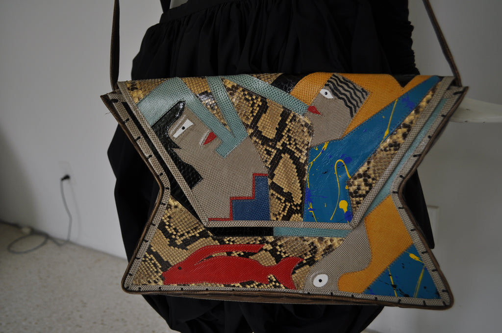 Mille Fiori avantgarde purse 80s