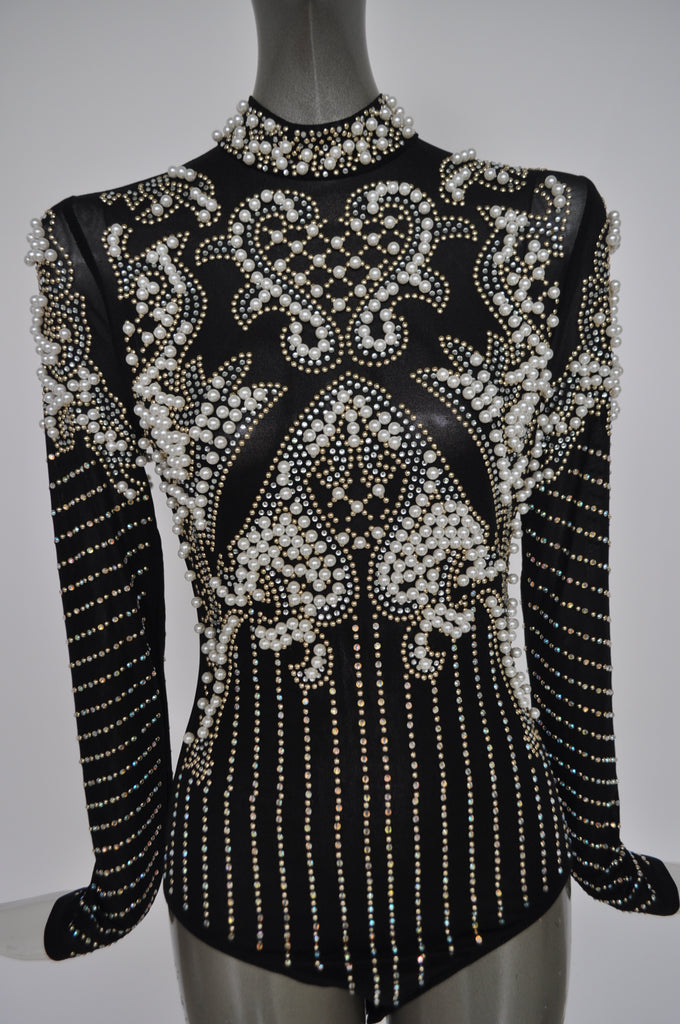 Beaded bodysuit