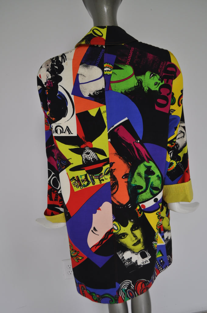 Gianni Versace reversible coat 90s