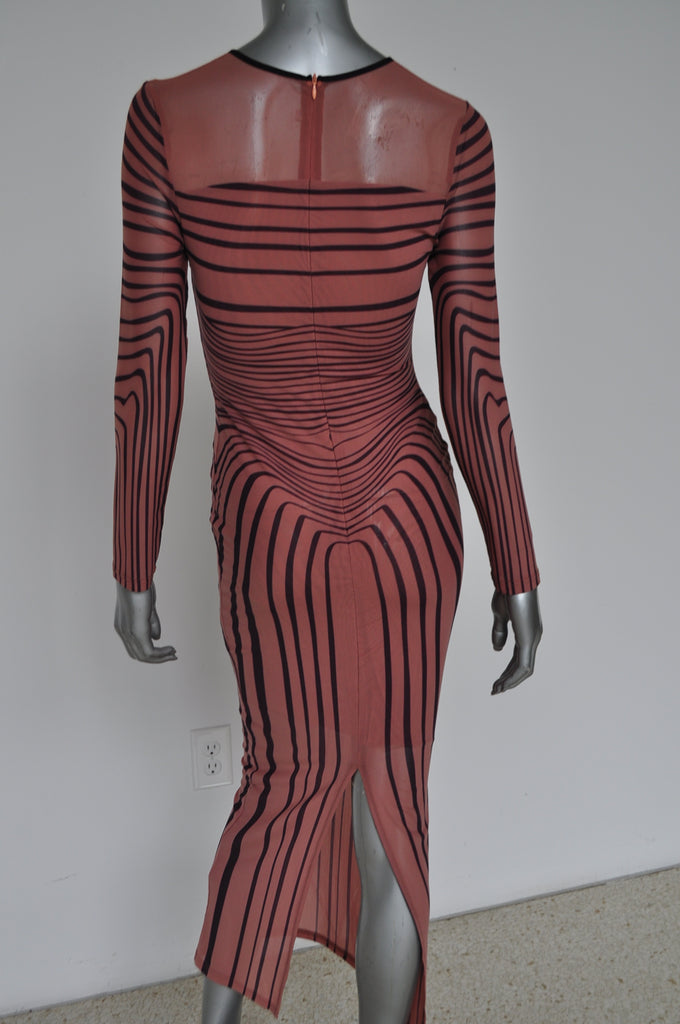 Jean Paul Gaultier dress with great print 1998