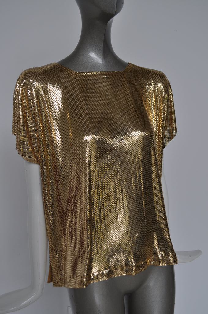 Metal mesh top by Whiting and Davis 80s