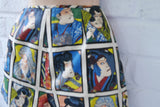 Vintage 40s Cabana Bikini/Swimsuit with japanese comic print, super rare