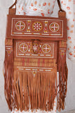 Vintage 70s moroccan  fringed  shoulder bag with fringes. Bohemian style.