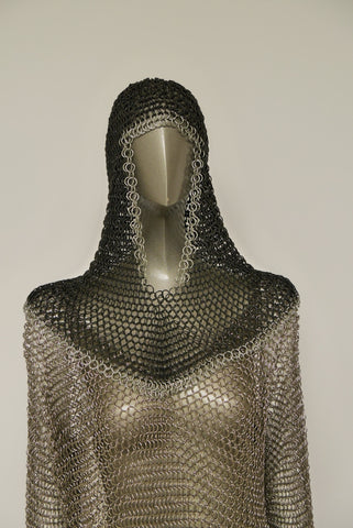 Azzaro lurex and metal mesh top gold tone 1970s