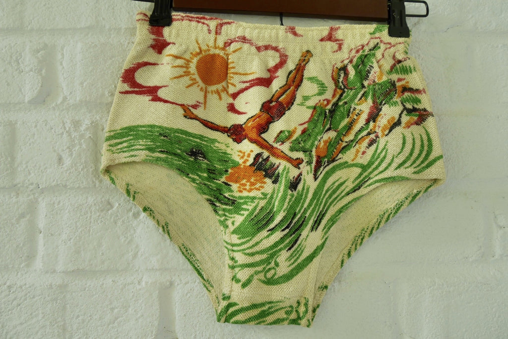 Rare 1930s dead stock boys swim trunk