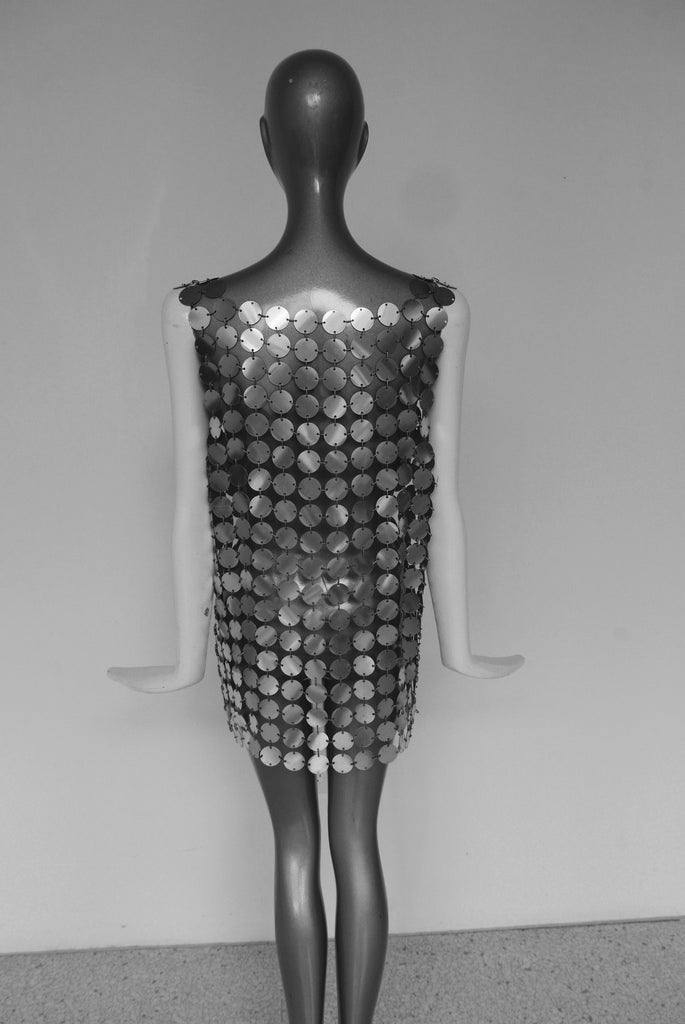 Paco Rabanne silver mesh vest  Paco Rabanne kit