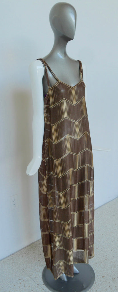 1930s art deco print maxi dress with batwing sleeve jacket