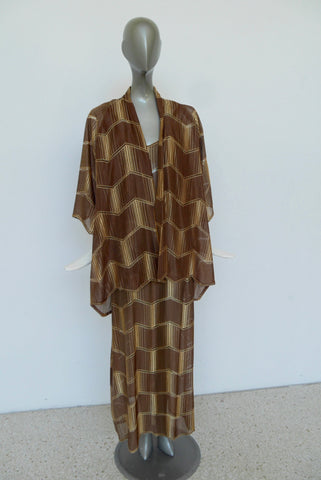 Adrienne Landau 1920s flapper coat with fox collar and cuffs